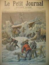 EXPEDITION POLE NORD ARCTIQUE WELLMAN STATION NORDENSKIOLD LE PETIT JOURNAL 1894