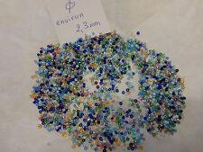 lot perle de rocaille multicolore sachet de 40g d 2.3 abat jour perlé broderie