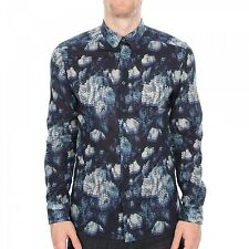 Paul Smith PS Shirt- Navy Floral Slim-fit Shirt/Size: Medium/RRP: £139/BNWT