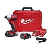"""Milwaukee 2657-22CT M18™ 2-Speed 1/4"""" Hex Impact Driver Kit"""