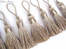 10 small Light silvery Mauve decoration tassels Mini craft embellishments trim