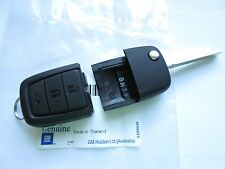 GENUINE HOLDEN VE COMMODORE CALAIS SV6 SS 3 BUTTON REMOTE & FLIP KEY BLADE NEW