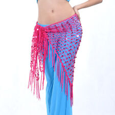New Belly Dance Costume Hip Scarf Belt Triangle Shawl Exercise Belt 11 colours