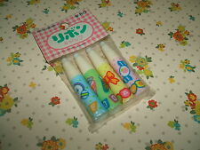 Vintage 1980s Stationery - Mitsukan Cute Candy Ice Cream & Bows Pencil Caps