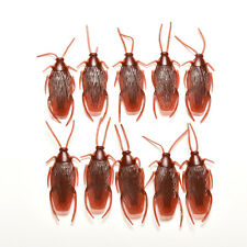 For Payty 10pcs New Brown Plastic  Model Fake Cockroach Roach Toy funny trick KW