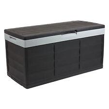 Auflagenbox Gartenbox Pack&Go 305L Aufbewahrungsbox Sitzbank Garten Schwarz