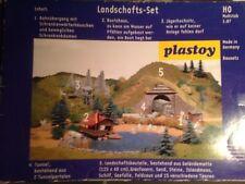 Plastoy Landschafts-Set HO 5 Gebäudebausätze NEU Gebäude Bausatz Modelleisenbahn