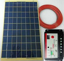 10w PV Solar Panel + 4m cable + 10A Auto Charger Controller for 12v Battery UK