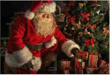 7x5FT Christmas Tree Red Santa Claus Custom Photo Background Backdrop Vinyl
