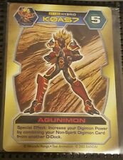 BANDAI DIGIMON CARD DT-185 Agunimon Toy PROMO text d-tector RARE NM