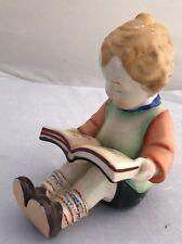 """VINTAGE CHILD READING PORCELAIN FIGURINE - MADE IN JAPAN - """"HUMMELSTYLE"""""""