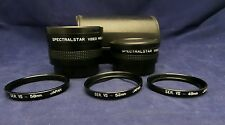 Spectralstar Video Converter Lens Telephoto Wide Angle Adapter Rings Case Bundle