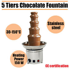 "5 Tiers Commercial Chocolate Waterfall Fountain Stainless Steel 27"" Party"