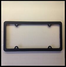 Black Blank License Plate Frame ThinPlastic Cover Tag Holder front car JDM truck