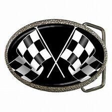 Racing Checkered Flag Nascar Indy Race Fan Custom Belt Buckle New!