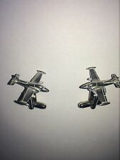 BAC Jet Provost C60 Trainer Aircraft Fine English Pewter Cufflinks