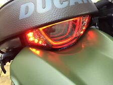 DUCATI SCRAMBLER Tunnel 3D LED smoke tail light with LED turn signals