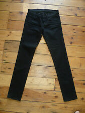 J brand UK6 L24 W29 ladies jet black denim stretch skinny jeans