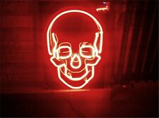 New SKULL NEON LIGHT SIGN Display Garage STORE BEER BAR CLUB Bar Signage 17x14""