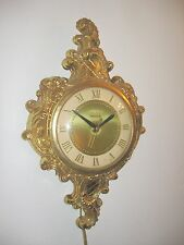 UNITED Wall Clock Vtg mod mcm Beautiful Condition very ornate working