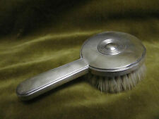 brosse à cheveux argent minerve art deco (french silver hair brush) Prost