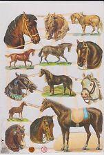 1 B. Glanzbilder Poesie Pferde Glimmer ef 7302 Nr.552