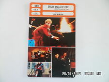 CARTE FICHE CINEMA 1989 GREAT BALLS OF FIRE Dennis Quaid Winona Ryder John Doe