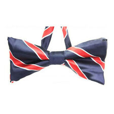Butterfly Tie Adjustable Slim Bow Tie Red and Blue Horizontal Striped Tie 2ea