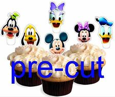 mickey mouse club house heads X24 stand up cup cake toppers wafer paper *precut*