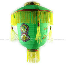 Eid Milad Decoration Green Paper Hanging Lantern Chandelier Kit Diameter 28cm