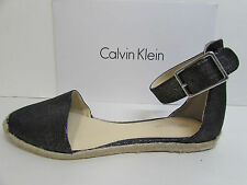 Calvin Klein Size 7.5 Black Sandals Flats New Womens Shoes