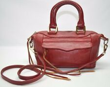 Rebecca Minkoff Rare Red Leather Mini Mam Morning After Convertible Bag Satchel