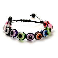 EVIL EYE BEAD BRACELET 12mm Shamballa Style Good Luck Protection NEW Adjustable