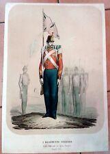 MILITARIA - I° REGGIMENTO SVIZZERO - ZEZON LITH.  DI LORENZO DIS. NAPOLI 1853