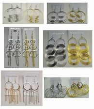 YU-102 Wholesale Jewelry lot 10 pairs Mixed Styles Big Fashion Dangle  Earrings