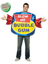 Adult Blow Me Bubble Gum Humour Costume Std Fancy Dress Brand New