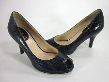COLE HAAN WOMEN'S AIR CARMA OPEN-TOE PUMP PCFC SNAKE EMBSSD US SIZE 9.5 EUR 41 B
