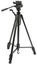 BLACK 1.5M PRO GRADE CAMERA TRIPOD WITH FLUID EFFECT 3 WAY PAN TILT HEAD