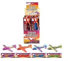 48 DINOSAUR  GLIDERS FOR KIDS  12 ASSORTED -  WHOLESALE  JOB LOT -  FREE POSTAGE