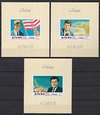 Ajman 1969 ** Bl.122/24 B Brüder Kennedy Kennedy brothers