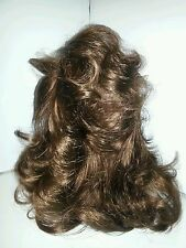 "Clip in claw pony tail hair piece extension 16""long wavy M/GOLDEN  BROWN P-12#12"