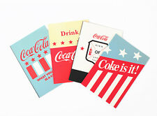 4Pcs Coca Cola Notebook Vintage Style Blank paper Journal NotePad Stationer
