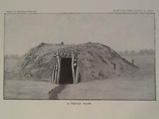 Pl LXXXIX A YÉBĬTCAI HOUSE NAVAJO INDIAN RESERVATION NEW MEXICO ARIZONA 1897 GC