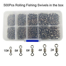 500pcs/box Fishing Rolling Swivel Ball Bearing Fishing Swivel Tackle Conncetor