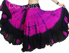 Pink Black Gypsy Tribal 25 yards yard belly dancing cotton Folk skirt L39/40""