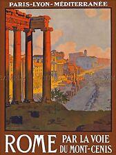 Viajes ruina foro Roma Italia Vintage Repro de cartel impresión de arte 1015pylv