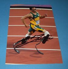 OSCAR PISTORIUS GENUINE SIGNED AUTOGRAPH 6x4 PHOTO LONDON 2012 OLYMPICS + COA