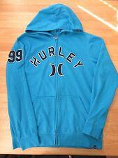 Men's S HURLEY Blue pullover  hoodie soft  hooded sweathsirt