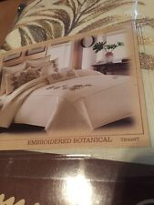 TOMMY BAHAMA HOME EMBROIDERED BOTANICAL TROPICAL FULL/QUEEN DUVET COVER NIP