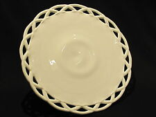 Pitman Dreitzer Colony Lace White Milk Glass Pedestal Cake Plate Stand Wedding
